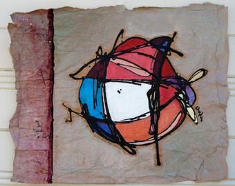 Abstract Orb Painting on Paper