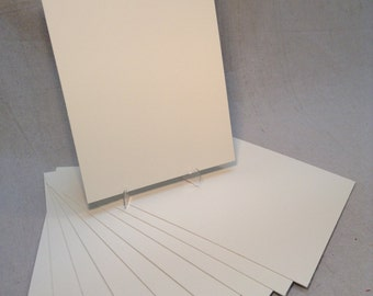 """12 Pieces of 5""""x 7"""" 4 Ply Ivory/Antique White Museum Mat Board-100% Rag-8x10-11x14"""