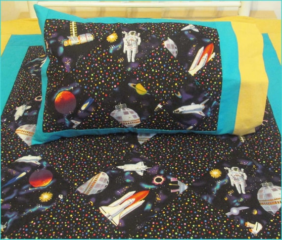On sale outer space toddler quilt set with pillow case for Outer space quilt
