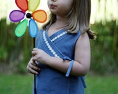 Criss-Cross Reversible Wrap Cross Over Dress INSTANT DOWNLOAD PDF Sewing Pattern Toddlers Girls Sizes 1 2 3 4 5 & 6 Peach Patterns on etsy