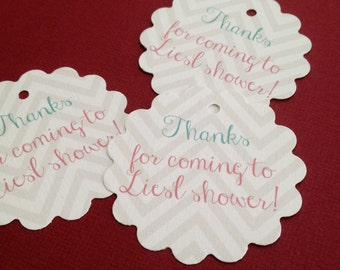 Chevron Party Favor Tags, sets  of 20