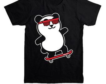 Panda Skateboard Shirt - Rad Panda Tshirt