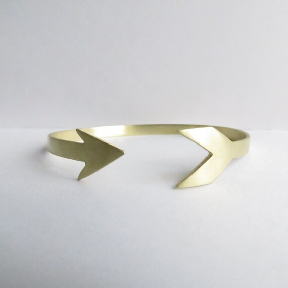 Minimalist Gold Arrow Cuff Bracelet