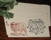 8 Happy Easter Gift Tags with Sheep Lamb