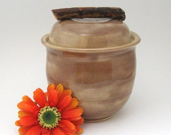Ceramic Jar - Decorative - 26 oz - Hand Thrown Stoneware Pottery