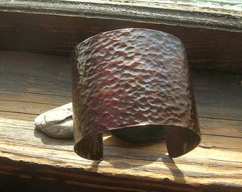 Hammered Copper Cuff with Patina