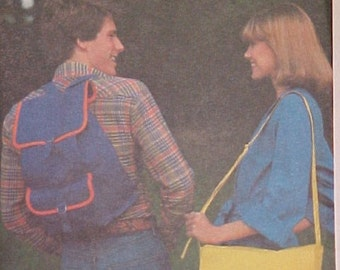 UNCUT Vintage Backpack Bag Pattern