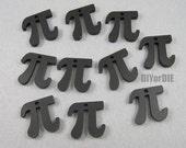 Pi 3.14 20mm tiny laser cut acrylic necklace or earring charms 64 pieces bulk pricing wholesale