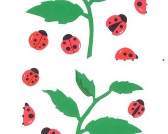 Vintage / Mrs. Grossman's (tm) Stickers / Ladybugs / (c)1996 / Twenty Sections