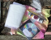 Easy Lutradur Postcards Kit With Free Hand Dyed Kit Bag