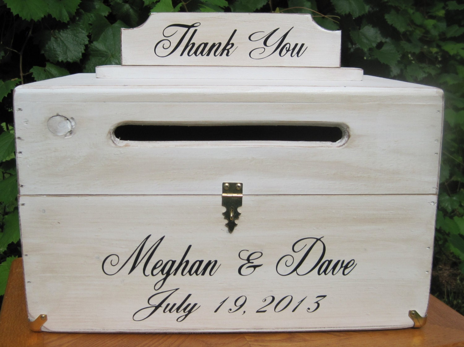 Personalized Card Box Rustic Wedding Chest by dlightfuldesigns