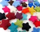 100% Wool Felt Stars - set of 20