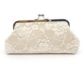 Spring Wedding, Rustic Wedding Clutch, Burlap Lace Clutch, wedding accessory - Burlap Lace/Bridesmaid Clutch/Evening Bag Clutch