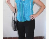 Crochet top, sleeveless, festival top, hippie, boho, chain top