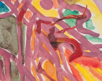 Original watercolor collage