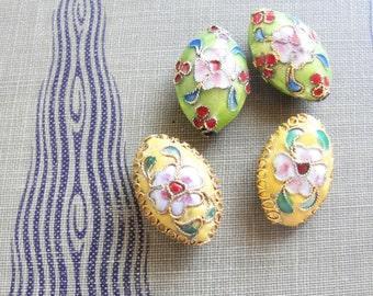 Cloisonne Beads    4pc
