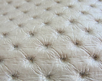 Embossed Pearl White Fake Leather Piece