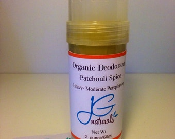 Natural Patchouli Deodorant for Moderate to Heavy Perspiration