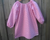 SALE Upcycled fabric nightie pink flowers 4T