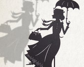 Mary Poppins / Laser-cut Shadow Puppet