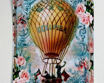 Shabby Hot Air Ballooning Gift Tags