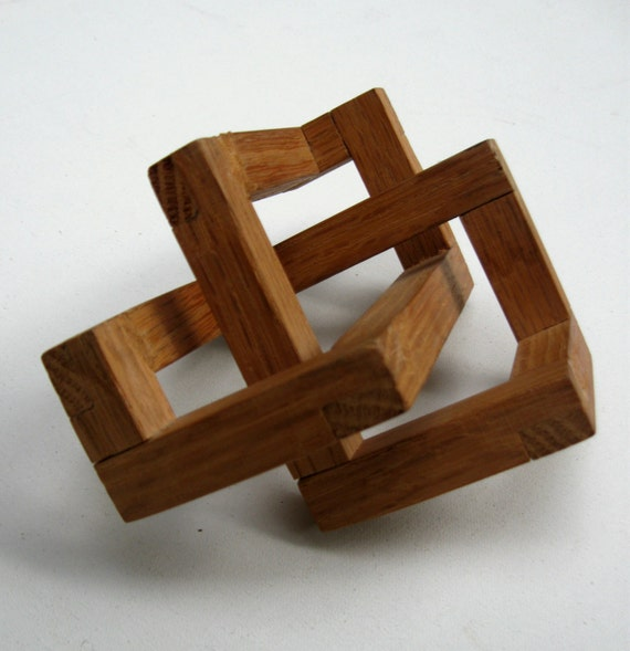 optical illusion wooden excellent geometric sculpture pair illusions things projects