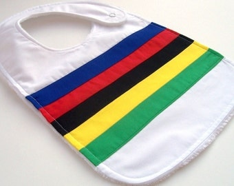 Baby Bib - WORLD CHAMPION JERSEY Minky Baby Bib, Tour de France Inspired