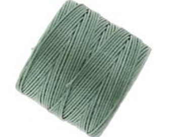 Bead Cord Nylon Superlon #18 Twisted 77 Yard Spool Bobbin CELERY GREEN 420718