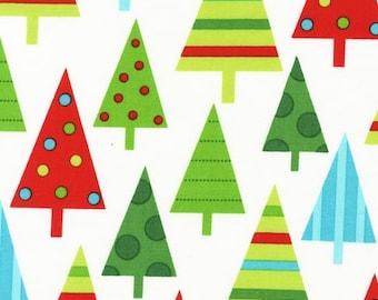 Ann Kelle, Jingle 2, Holiday Trees in Winter White, Last 1/2 yard