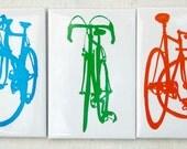 Bicycle Silhouette Magnet Set - Bike Art