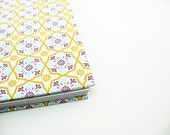 5 x 7 Blank Journal Notebook Sketchbook - spiral bound, travel journal - geometric, teal, purple, khaki