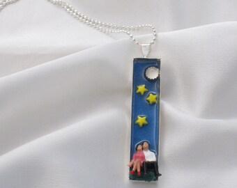 Under the Stars - little people couple pendant