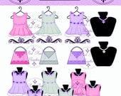 Buy 1 Get 1 FREE Boutique Dress Forms Clothing Purses Pendants Clip Art No.2 Illustration Digital Graphics Instant Download
