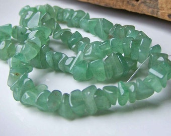 Light Green Aventurine Chips, Green Chip Beads, Green Aventurine, Chip Strand Beads, Light Green Chips, Aventurine