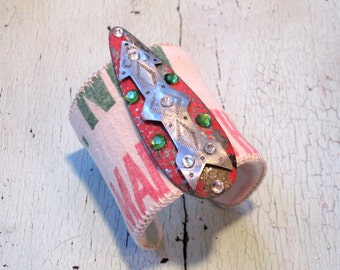 Road Trip Cuff Bracelet - Repurposed Vintage