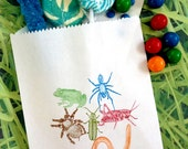 Bug Birthday party, Little Critters, Bug Candy Bags, Bug Favor bags, Birthday party, Sweets, Treats
