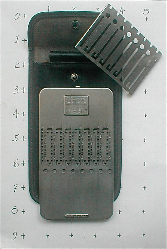 Gray Pocket Arithmometer Adding Machine Original Calculator Slide Adder Vintage 1950 Stainless Steel Mechanical Morse Chain Co. Made in USA