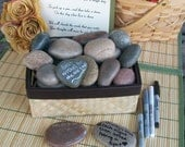 Wishing Stones - Unique Special Occasion or Wedding Guest Book Alternative - Guestbook (set of 200)
