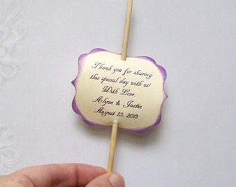 Cake Pop Favor - Lollipop or Treat Tags - Sweet 16 - Birthday - Shower - Baby - Retirement - Baptism - Christening (set of 50)