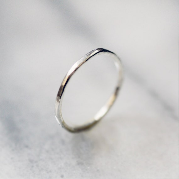 dash - modern fine silver band by elephantine