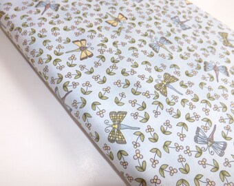 The Hatfields Tenderberry Stitches Cute Dragonflies Whimsical Bugs Pale Blue Childrens Kids Baby Quilting Sewing Fabric Cotton Textiles
