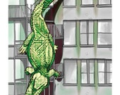 Alligator/Fire Escape -- The Animals Everywhere Series, Print, 8x10