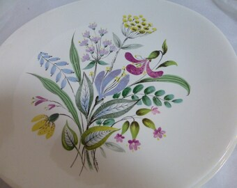 Hall Craft Eval Zeisel Dinner Plate Floral Bouquet 4 Oval Dishes