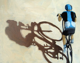 BICYCLE art - Single Focus - cycling on the road sports painting