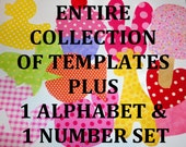 Fabric Applique TEMPLATES ONLY Entire Collection Of Over 450 Plus Alphabet & Number Set