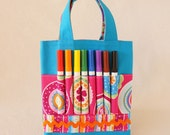 Coloring Bag Crayon Bag Art Tote READY To SHIP ARTOTE Mini in Lollapalooza
