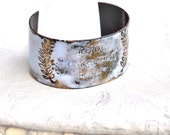 Handcrafted Jewelry - French 'STORM' Quote Cuff - Poets & Madmen Enamel Bracelet
