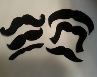 20 Pack Adhesive Felt Mustache Pack (ADULT SIZE), Adhesive Mustaches, Moustache, Adhesive Moustache, Moustache, Mustache Party Favors