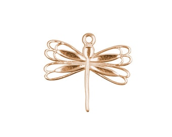 Rose Gold Dragon Fly Charm