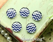 10mm Glass Cabochon, 8mm 12mm 14mm 16mm 20mm 25mm 30mm Round chevron  glass Dome - BCH243L